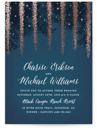 starry night wedding invitations | minted, Wedding invitations