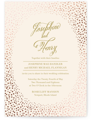 Baby's Breath Foil-Pressed Wedding Invitations