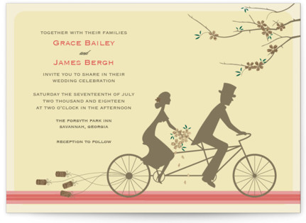 photo of Journey Together Foil Pressed Wedding Invitations