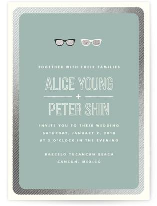 Shades Foil-Pressed Wedding Invitations