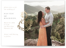 This is a white foil stamped wedding invitation by Creo Study called Love and Marriage with foil-pressed printing on signature in standard.