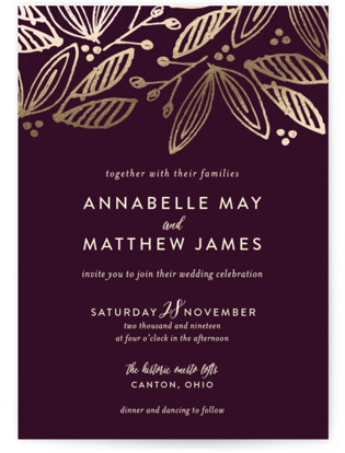 Belle Foil Pressed Wedding Invitations
