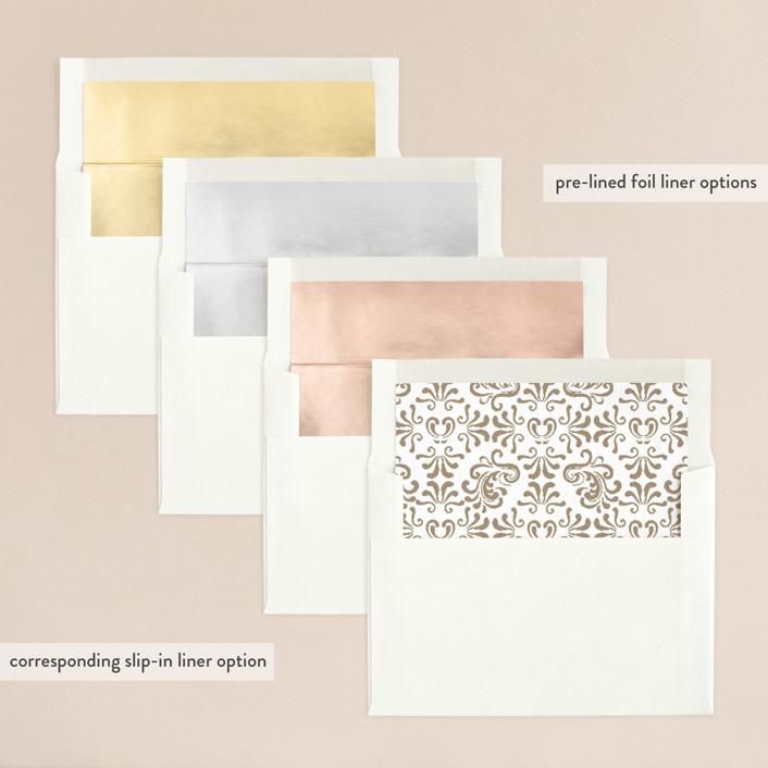 Black Tie Wedding Examples: Black Tie Wedding Foil-Pressed Wedding Invitations By