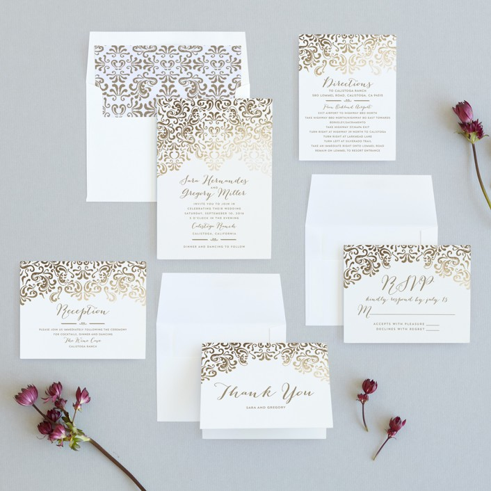 Black Tie Wedding Foil-Pressed Wedding Invitations by Chris Griffith ...