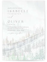 This is a white foil stamped wedding invitation by Kaydi Bishop called Wonderland with foil-pressed printing on signature in standard.