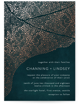 The Milky Way Foil-Pressed Wedding Invitations