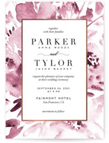 This is a pink foil stamped wedding invitation by Petra Kern called Inky Delight with foil-pressed printing on signature in standard.