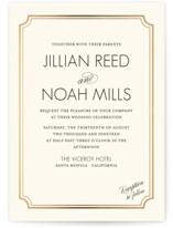 Modern Classic Foil-Pressed Wedding Invitations