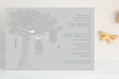Love Let Loose Foil-Pressed Wedding Invitations