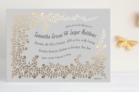 rose garden foilpressed wedding invitations by sn  minted, Wedding invitations