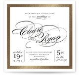 This is a black and white foil stamped wedding invitation by Snow and Ivy called Edged Conservatory with foil-pressed printing on signature in standard.