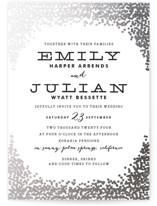 Gold Rush Foil-Pressed Wedding Invitations