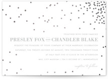 This is a grey foil stamped wedding invitation by Design Lotus called Thrilling with foil-pressed printing on signature in standard.