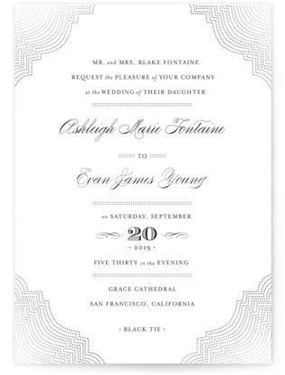 photo of Splendorous Foil Pressed Wedding Invitations