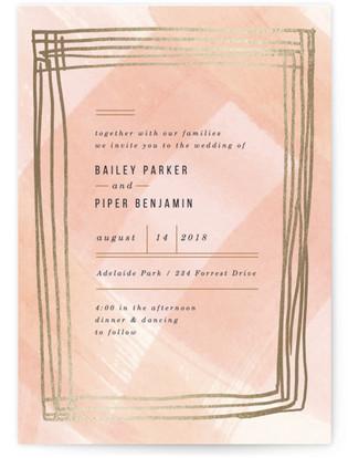 Sultan Foil-Pressed Wedding Invitations