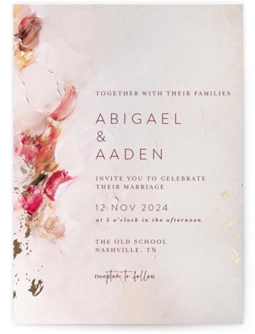 Warm Love Foil-Pressed Wedding Invitations