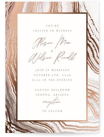 Sedona Foil-Pressed Wedding Invitations