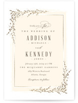 This is a yellow foil stamped wedding invitation by chocomocacino called positano with foil-pressed printing on signature in standard.