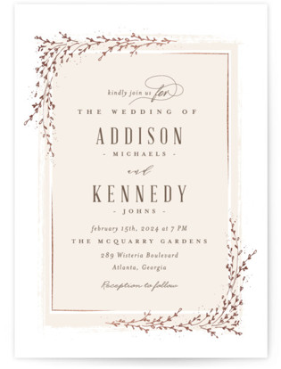 Positano Foil-Pressed Wedding Invitations
