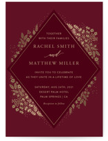 This is a gold foil stamped wedding invitation by My Splendid Summer called Millefleur with foil-pressed printing on signature in standard.