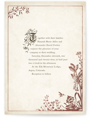 Story Book Foil-Pressed Wedding Invitations