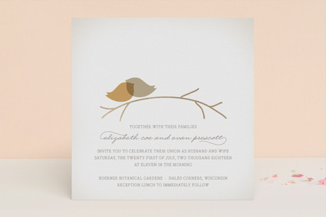 Nestled Foil-Pressed Wedding Invitations