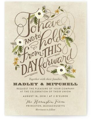 Boheme Foil-Pressed Wedding Invitations