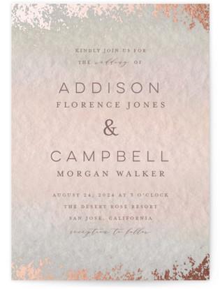 Mood Foil-Pressed Wedding Invitations