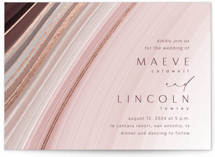 This is a pink foil stamped wedding invitation by Kaydi Bishop called chiffon with foil-pressed printing on signature in standard.