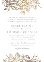 Gilded Wildflowers Foil-Pressed Wedding Invitations By Smudge Design
