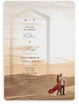 This is a brown foil stamped wedding invitation by fatfatin called Hexa with foil-pressed printing on pearlescent in standard.
