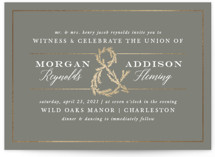This is a grey foil stamped wedding invitation by Amy Kross called Sketched Ampersand with foil-pressed printing on signature in standard.