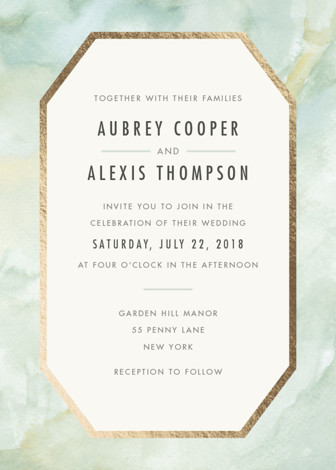 Gratitude Foil Pressed Wedding Invitations By Elly | Minted