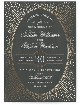 Wedding Sparkler Foil-Pressed Wedding Invitations