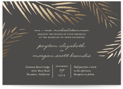 Winter Wonder Foil-Pressed Wedding Invitations