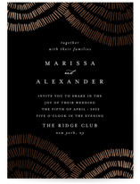 This is a black foil stamped wedding invitation by Carrie ONeal called Tile with foil-pressed printing on signature in standard.