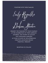 Sprinkled Love Foil-Pressed Wedding Invitations