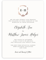 This is a black and white foil stamped wedding invitation by Susan Brown called Always with foil-pressed printing on signature in standard.