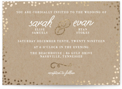 photo of Starlight Foil Pressed Wedding Invitations