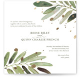 This is a white foil stamped wedding invitation by Haley Warner called Al Fresco with foil-pressed printing on signature in standard.