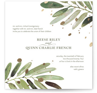 Al Fresco Foil-Pressed Wedding Invitations