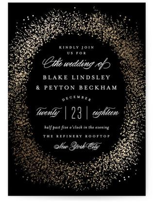 City Light Foil-Pressed Wedding Invitations