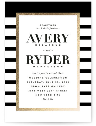 Editorial Chic Foil Pressed Wedding Invitations