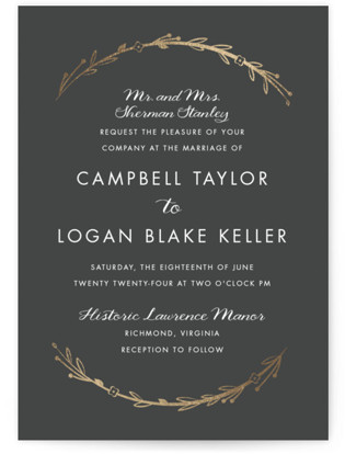 Mulberry Foil-Pressed Wedding Invitations