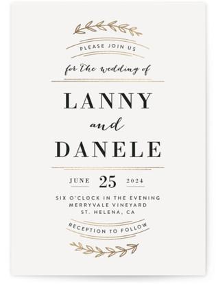 Elegant Announcement Foil-Pressed Wedding Invitations