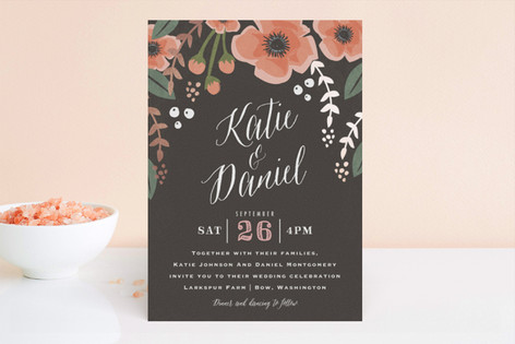 Garden Blooms Foil-Pressed Wedding Invitations