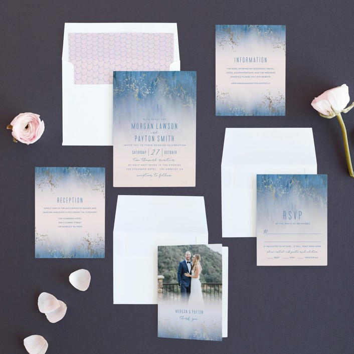 Midsummer Night Foil-Pressed Wedding Invitations by Kaydi Bishop ...