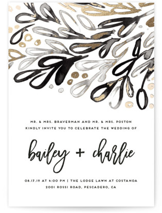 photo of Chic Glow Foil Pressed Wedding Invitations
