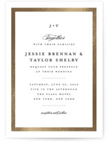 This is a gold foil stamped wedding invitation by Stacey Meacham called Lasting love with foil-pressed printing on signature in standard.