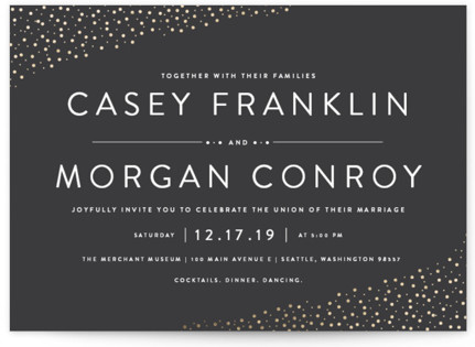 Modern Glam Foil Pressed Wedding Invitations